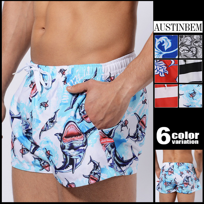 AustinBem Men Swim Beach Shorts Surf Shorts Brad Person Person Swimwear Mens Printed Shorts Beach Pants Bermudas Hombre Playa
