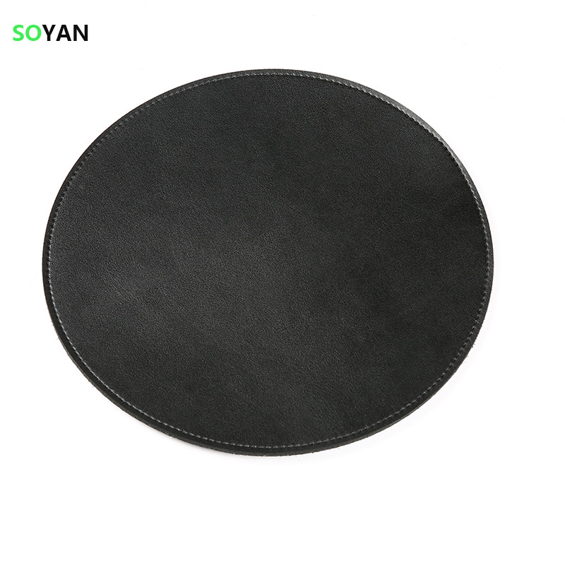 Gaming Mouse Pad Round double layer leather Mouse Pad smooth Mouse Mat speed Version Mousepad 220*220mm For Dota2 Diablo 3 CSGO