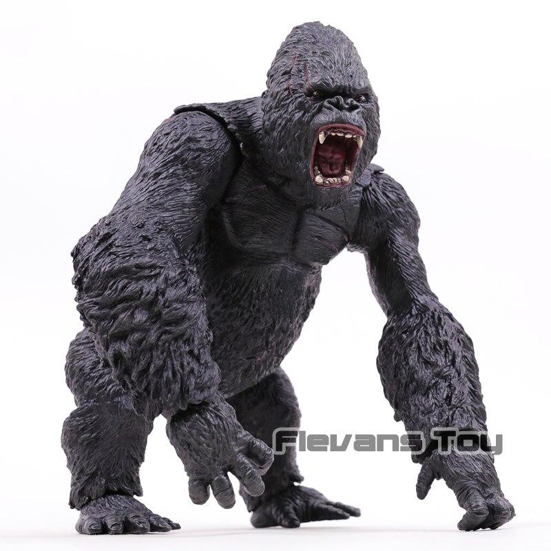 Grande taille 31 cm roi Kong roi Kong crâne île PVC figurine à collectionner modèle jouet cadeau