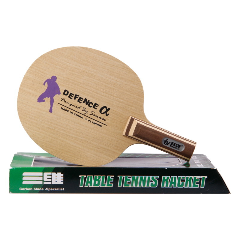 SANWEI Defence Alpha (Big Size, Chopping) Defensive Play Table Tennis Blade Defence Chop Racket Ping Pong Bat Paddle yinhe galaxy 980 defensive chop play table tennis blade chop racket ping pong bat paddle
