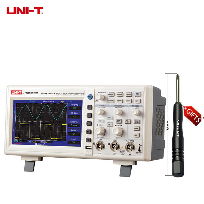 UNI-T UTD2025CL 25MHz 250Ms/s USB Digital Storage Oscilloscope DSO 2Channels 7''TFT LCD Scopemeter W/ USB OTG EU/AU/US Plug dale carnegie how to win friends and influence people