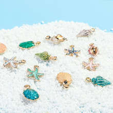 13 Pcs/Set Fashion Conch Sea Shell Pendant Charms DIY Craft Jewelry Making Handmade Accessories Findings & Components