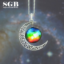 12 Styles Nebula Space Universe Vintage Time Gem Pendants for Women and Men Galaxy Necklace Fashion Jewlery
