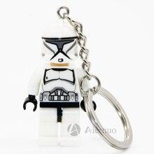 Star Wars Clone Trooper Keyring Minifigures Keychain Custom Ring Keychains Handmade Key Chain Building Blocks Toy