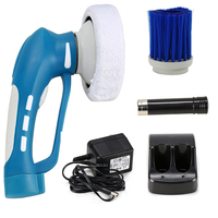 Mini Waterproof Handheld Electric Cordless Car Polisher Oiling Car Polishing Machine Tool Car Cleaner with 3 Kinds Of Brushes