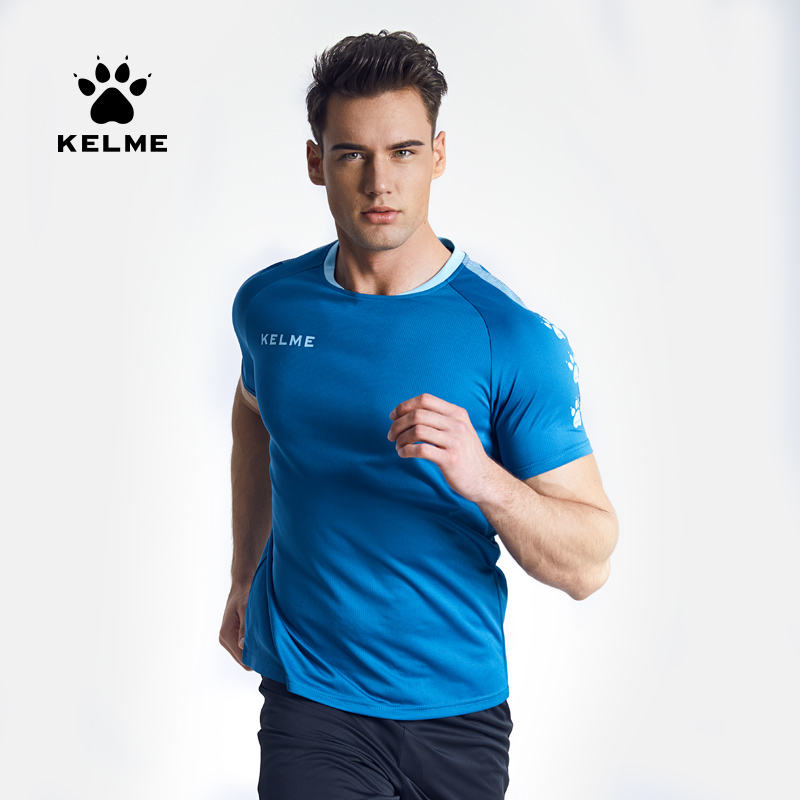 Kelme 2019 Man Soccer Jersey Breathable Customized Sports Training Jersey Short Sleeve Quick Dry T Shirt