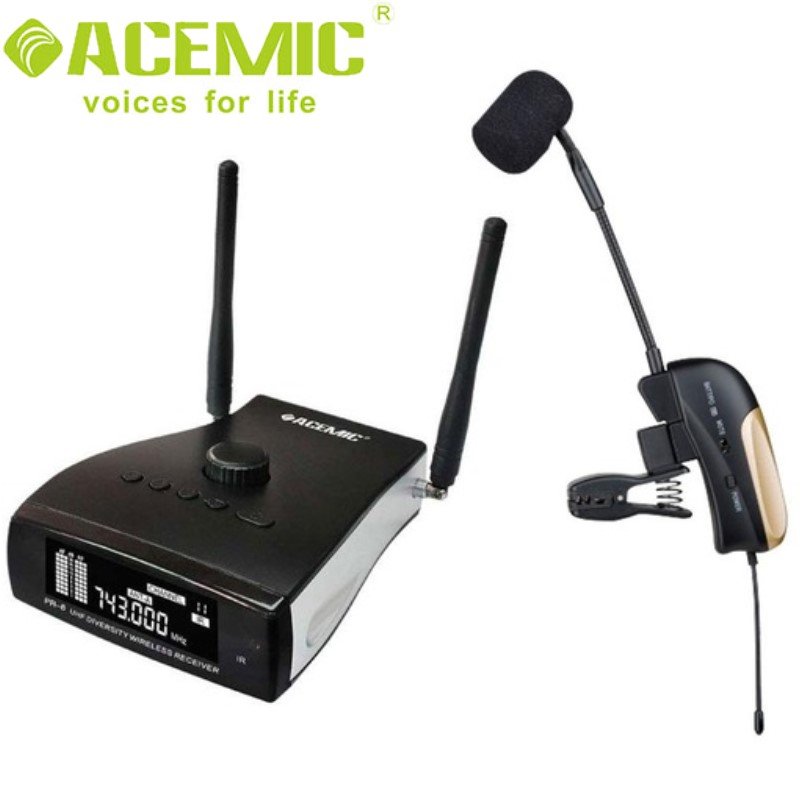 NEW RELEASE ACEMIC PR-8/ST-4 Wireless Saxophone Microphone Wind Instruments Microphone With ECHO Effect 80M Operarting Range