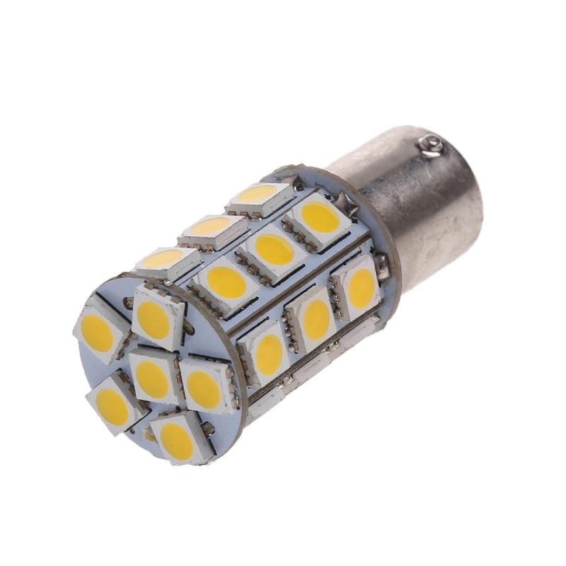 Car Warm White 1156 BA15S Camper Trailer 5050 27-SMD LED Interior Light Bulb