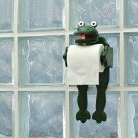 Roll paper holder / frog paper towel rack wood toilet paper toilet paper holder free punch LO5311120