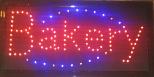 customed high quality animation/open/neon/business/store/shop/window/electronic bakery sign