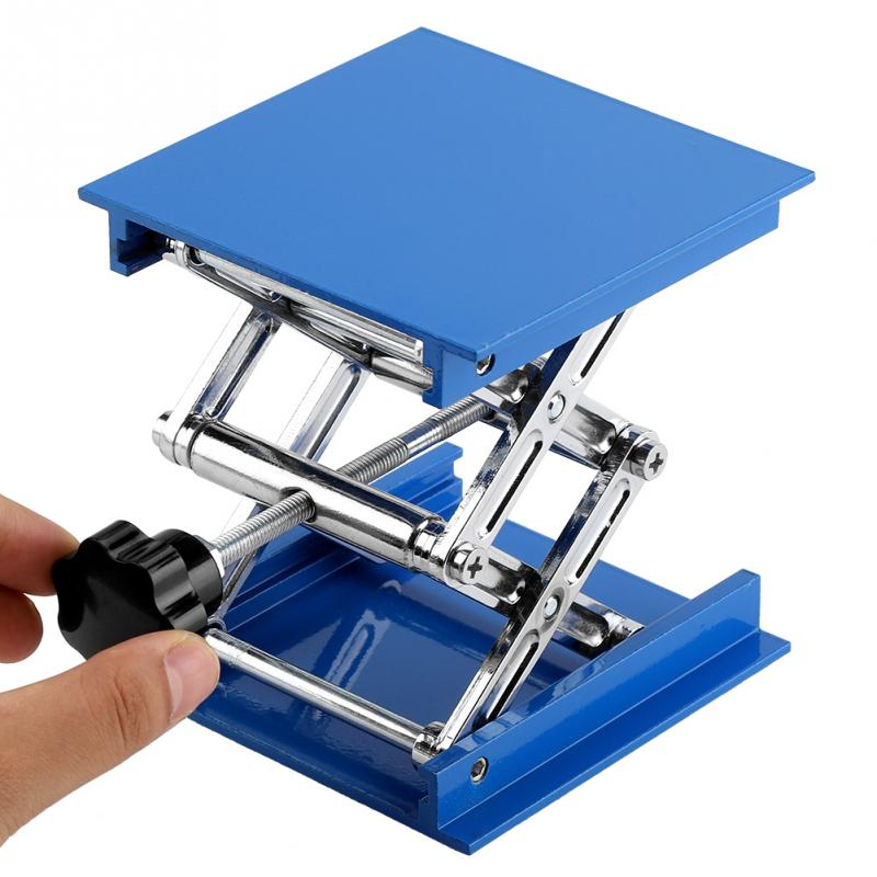 Enthousiast Lab Lifting Platform 100x100mm Blue Electroplated Aluminium Lab Lifting Stand Rack Schaar Jack Lifter Microscoop Lab Jack