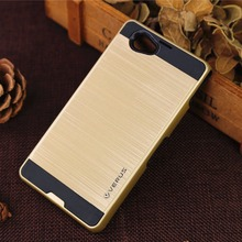 Luxury Dual Hybrid Brushed Hard Back PC Cover Silicone TPU Case Shockproof Mobile Phone For Sony Xperia Z1 mini / Compact
