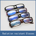4 Colors Hot No-Degrees Anti-fatigue Eye Protective Safety Goggles Radiation Resistant Computer Glasses for Men Women Wearing