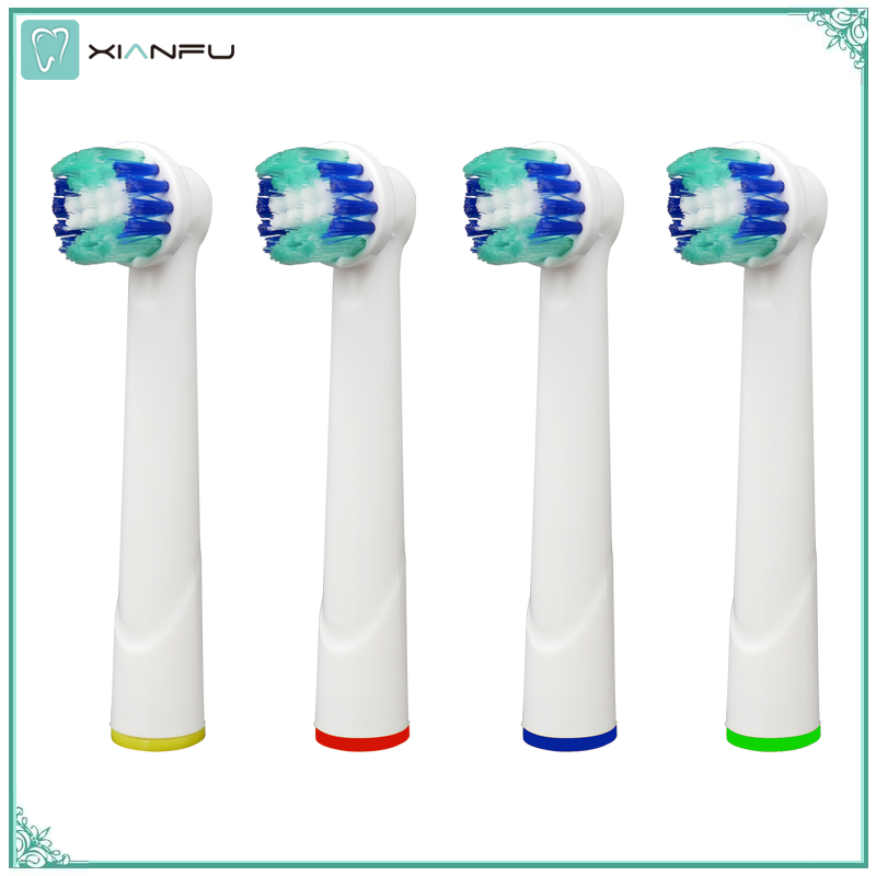 4PCS Generic Replacement Toothbrush Heads Compatible with Oral b Electric Toothbrush Pro Professional Care Vitality Dual Clean 4pcs generic deep sweep toothbrush heads for oral b electric toothbrush heads innovative cleaning compatible with most brush