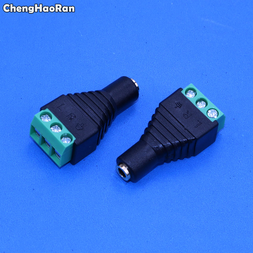 ChengHaoRan  3.5mm Video AV Balun 3.5mm Stereo Female To AV Screw Terminal Stereo Jack 3.5 Mm Female 3 Pin Terminal Block