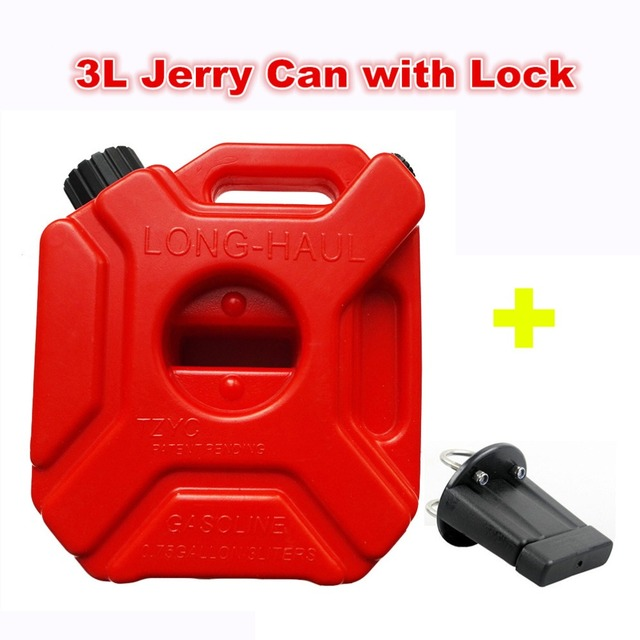 Plastic Gas Cans >> Us 48 88 3litre Fuel Tank Jerry Cans Spare Plastic Petrol Tanks Atv Jerrycan Mount Motorcycle Gas Can Gasoline Oil Container Fuel Jugs In Petrol