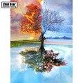 100% Pełna DIY 5D Diament Malarstwo Seasons Drzewo haft Krzyżykowy Haft Wzory dżetów Diament Mozaika bk