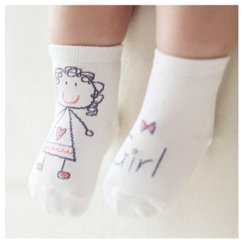New Spring Baby Socks For Newborn Baby Cotton Boys Girls Cute Animal Pattern Toddler Asymmetry Socks