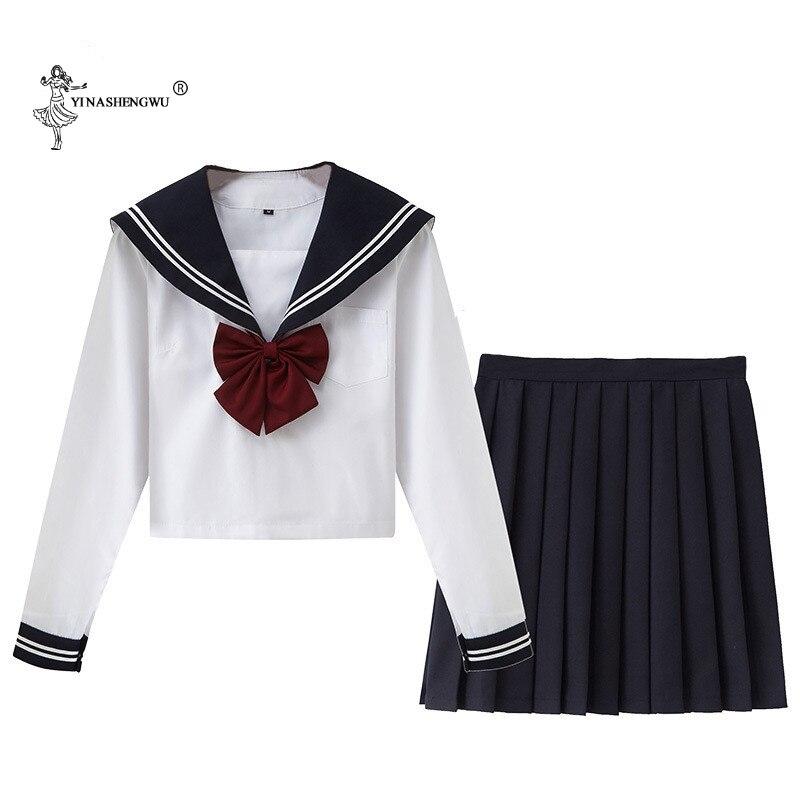JK Uniform College Middle School Students School Uniforms Autumn Long-sleeved Japan Korea JK Uniforms Junior High School Dress