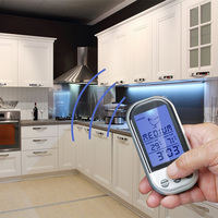 New LCD Wireless Kitchen Meat Thermometer Long Range Digital Remote Thermometer For BBQ Grill Oven Food