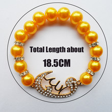 Dubai gold jewellery samll orange pearl woven Muslim prayer beads bracelets for women(China)