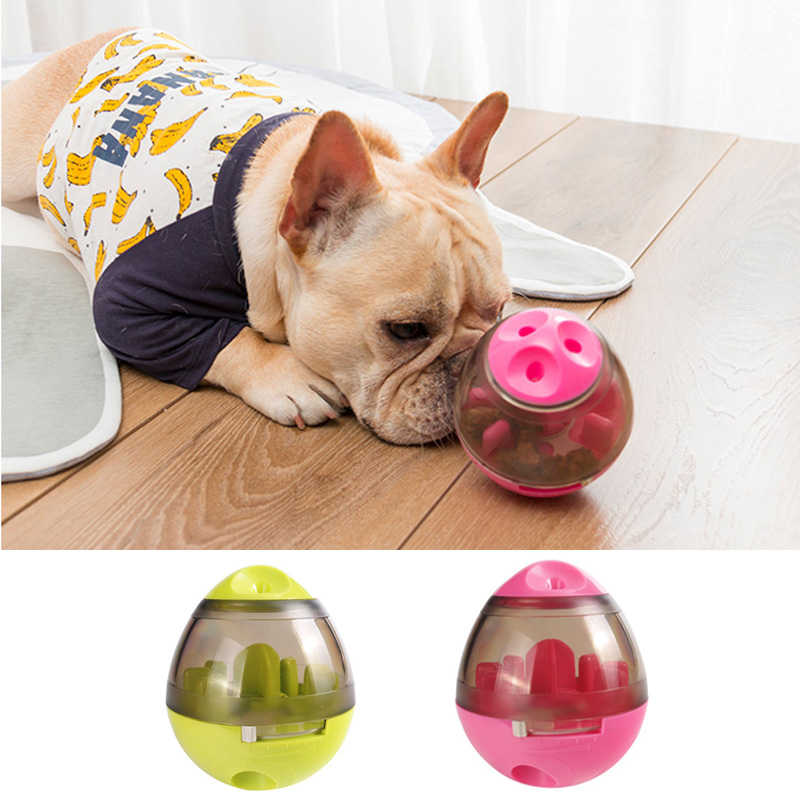 Pet Dog Toys Tumbler Leakage Ball Eating Sport Play With Your Food Funny Play And Pet Eat Toys For Dogs Pet Amusement Products in Dog Toys from Home Garden