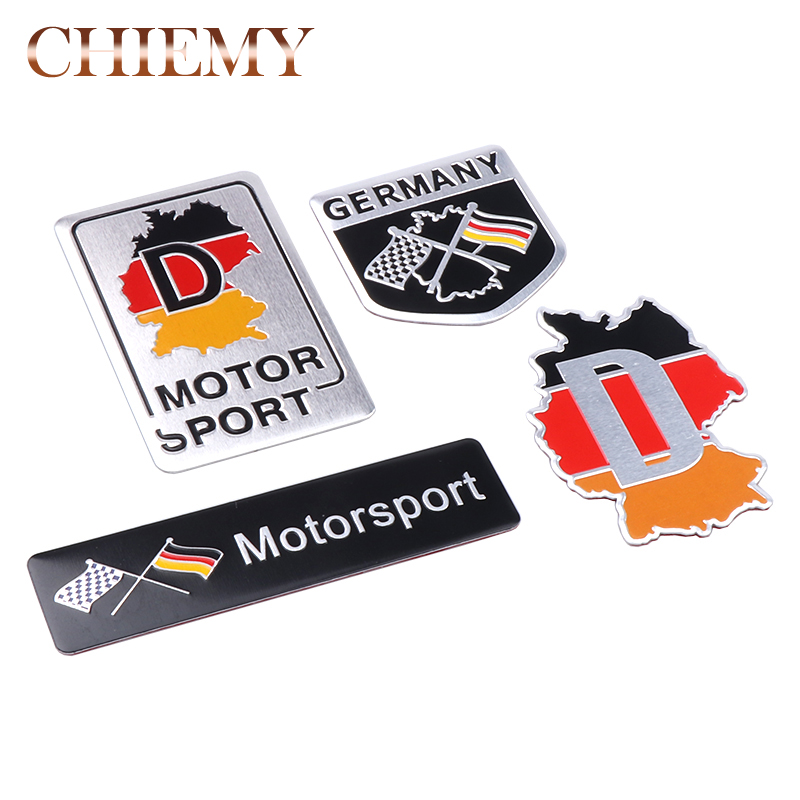 3D Aluminum Germany National Flag 3M Car Sticker Emblem For BMW VW Audi Buick Chevrolet Cruze Chrysler Jeep Dodge Ford Focus