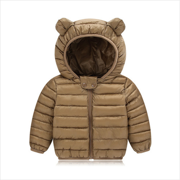 Fanfiluca Toddler Coat Black Hooded Warm Winter Coat Girls Cotton Waistcoat Infant For Baby Boy Jacket Kids Parka Outerwear009