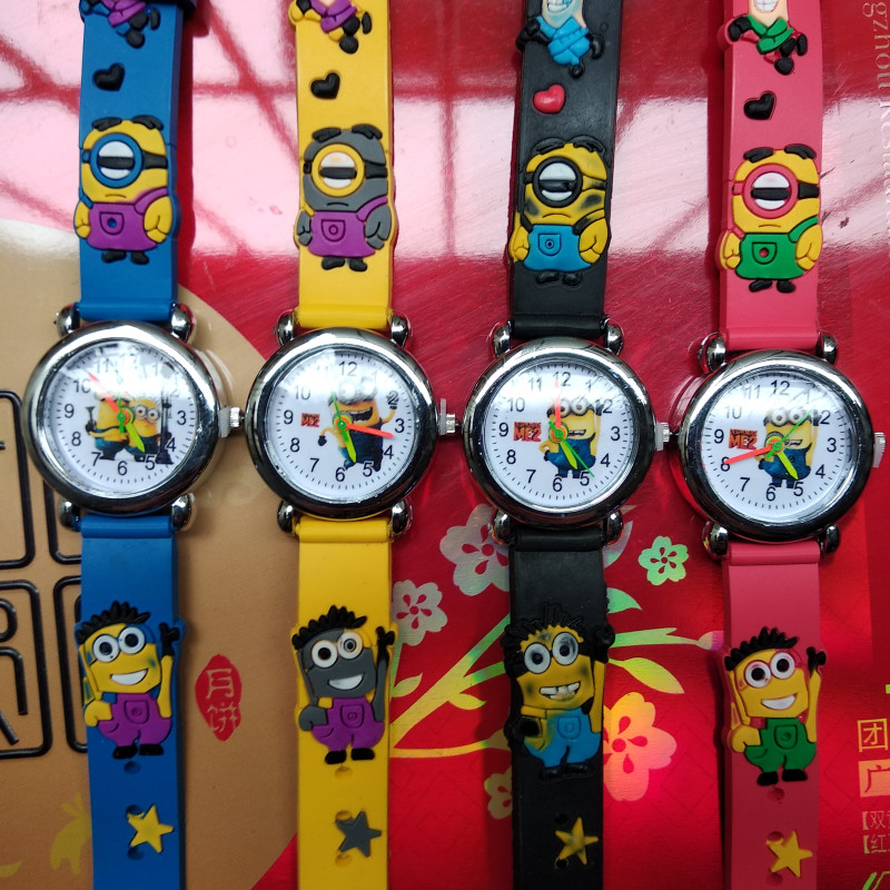 Free Shipping New 2017 Fashion Cool Mickey Cartoon Watch For Children Girls Leather Digital Watches For Kids Boys Christmas Gift Children's Watches