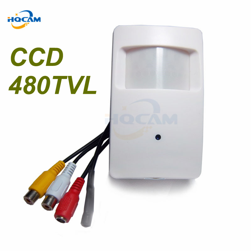 HQCAM SONY CCD 480TVL Pir Motion Detector CCD Camera for Sony CCD mini camera Covert PIR Camera for Support microphone hqcam 420tvl sony ccd 940nm led camera pir mini camera covert audio night vision camera pir ir camera pir motion detector