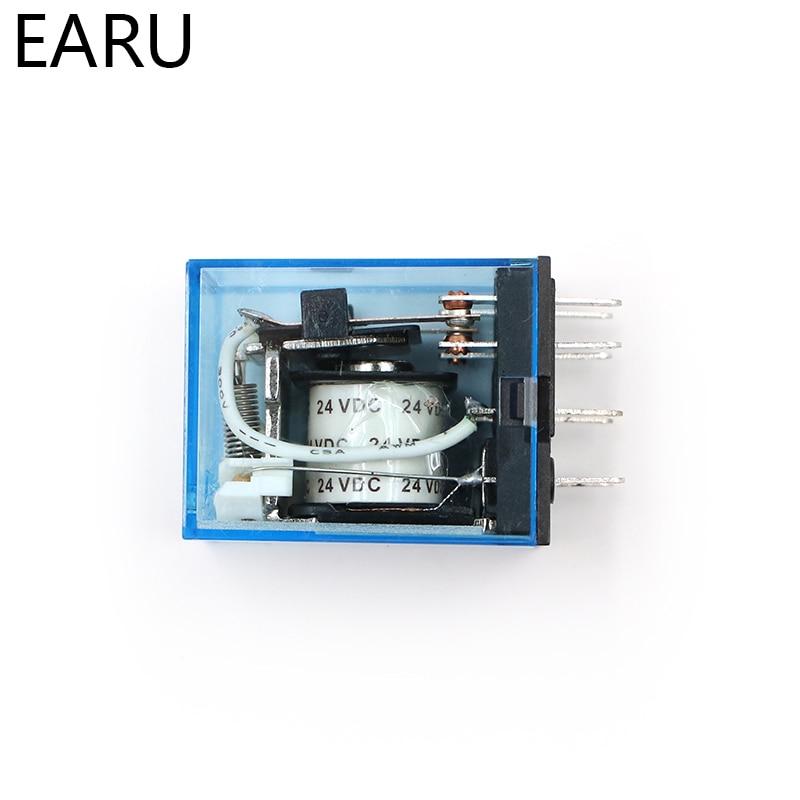 HTB15AhKr7OWBuNjSsppq6xPgpXaX - MY2P HH52P MY2NJ Relay Coil General DPDT Micro Mini Electromagnetic Relay Switch with Socket Base LED AC 110V 220V DC 12V 24V
