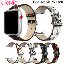Printed belt strap For Apple Watch 40mm 44mm 38mm 42mm wristband for Apple Watch series 4 3 2 1 iWatch Smart watch bracelet 42mm 38mm for apple watch s3 series 3