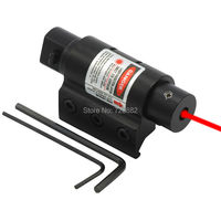 Taktik Mini Red Dot Lazer Sight Picatinny Weaver Rail ile Tabanca Tabanca için 20mm Kapsam Dağı Avcılık Ücretsiz Kargo