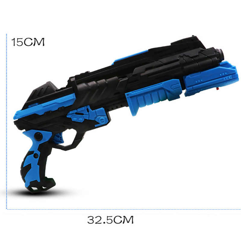 Хрустальный пулевой Пистолет Двойной режим пистолеты игрушка Хрустальная бомба мягкая пуля длинный диапазон водный воздух мягкая детская игрушка пистолеты подарки случайный 6800