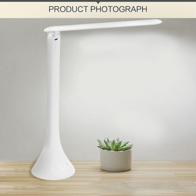USB LED Lâmpada de Mesa Dobrável E Pode Ser Escurecido 3-nível Dimmer Touch-Sensitive Eye-Cuidado Estudando Lâmpada de Leitura Recarregável