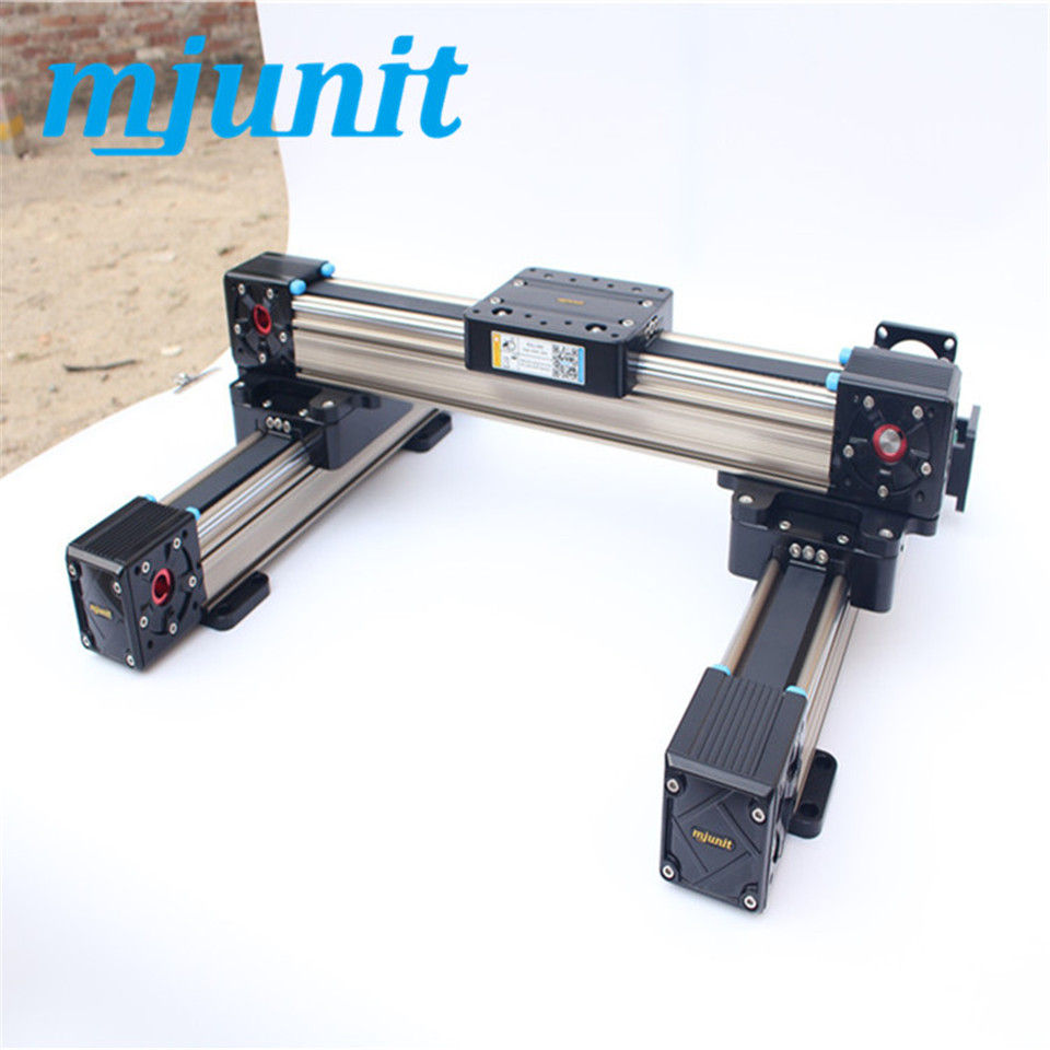 mjunit mj60 X Y Linear Actuator Belt-Drive Linear Rail guide belt driven linear slide rail belt drive guideway professional manufacturer of actuator system axis positioning