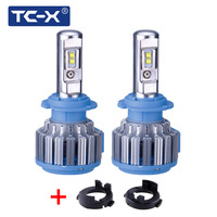 TC X LED Headlights H7 Bulb With Adapter Holder For Kia K3/New Carens/Rio 2017/S8 SONATA with reflector All in One Car LED Lamp