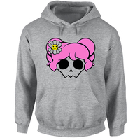 Cute Pink Hair Skull Punk Hoodies Men Women Girl Boy Wear Red Turban Pirate Skull Sweatshirt Hip Hop Jackets Casual Cotton Coats