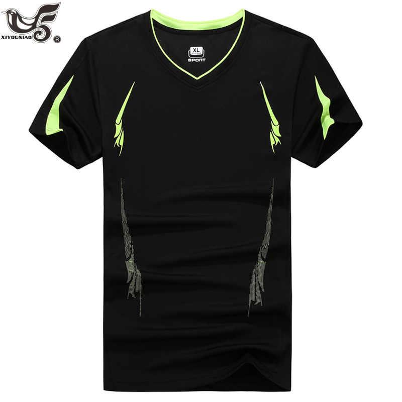 d8ff007bd XIYOUNIAO плюс размер M ~ 7XL 8XL 9XL обтягивающая мужская кофта с коротким  рукавом футболка сплошной