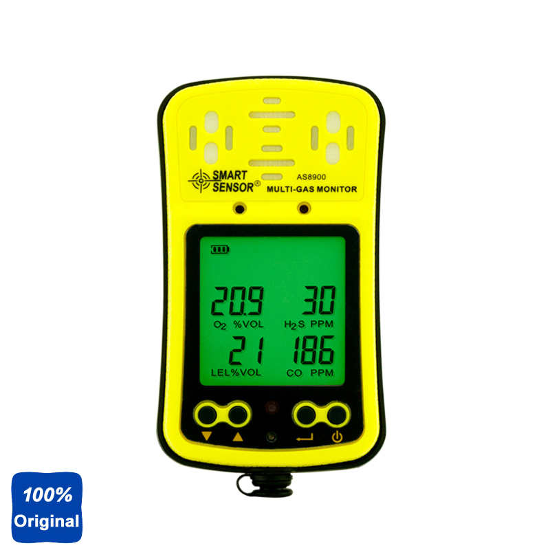 AS8900 Handheld Oxygen O2 Hydrothion H2S Carbon Monoxide CO Combustible Gas Detector Tester