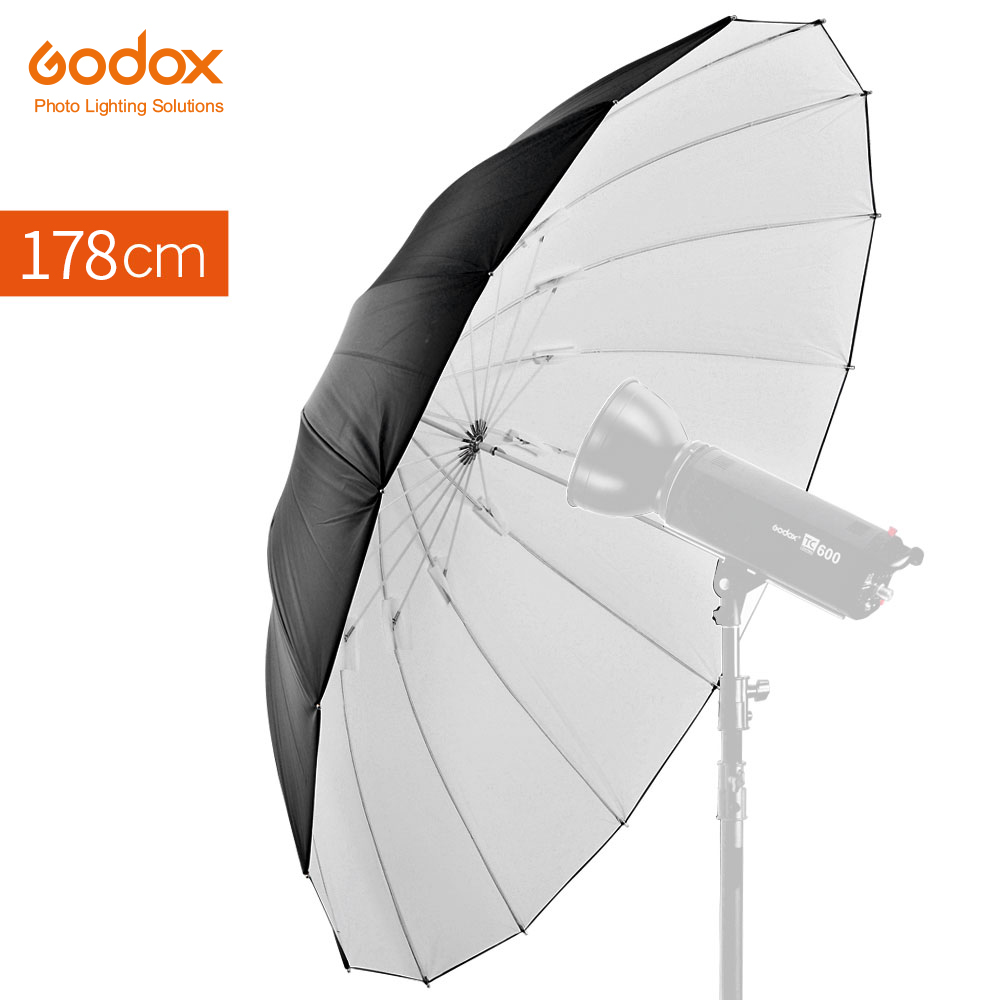 "GODOX Studio Photogrphy 70"" 178cm White Black Reflective Lighting Light Umbrella-in Photo Studio Accessories from Consumer Electronics    1"
