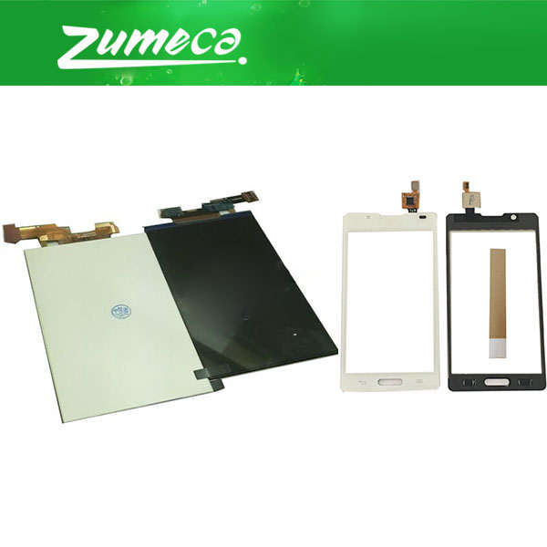 High Quality For LG Optimus L7 II P710 LCD Display Screen +Touch Screen Digitizer Black White Color With Free Tape