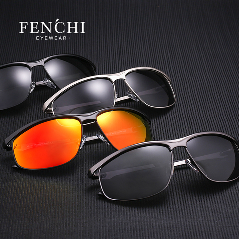FENCHI Polarized Sunglasses Men Brand Designer New Fashion Metal Glasses Driving UV400 Sunglasses Eyewear Goggles Lahore