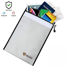 Portable Fireproof Document Bag Household Office Fire Resistant Money File Folder Waterproof Storage safe for documents