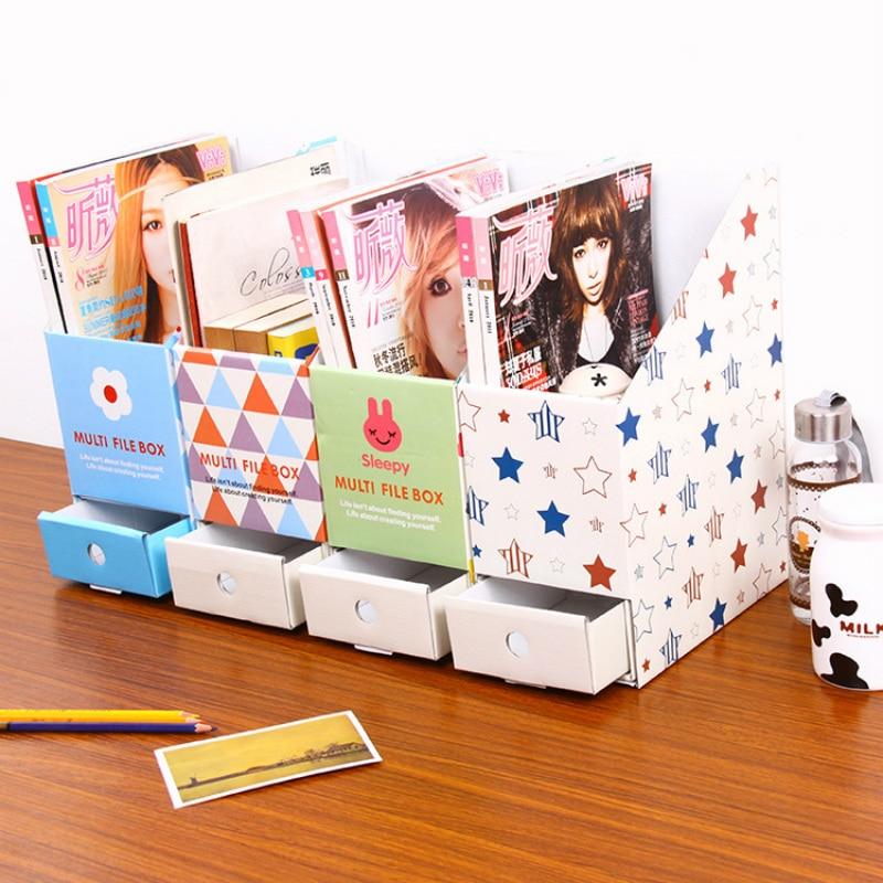 High quality DIY Drawer Desk Organizer Desktop Storage Box for Books Files Stationery stationey holder kawaii Pencil Holder 1PCs