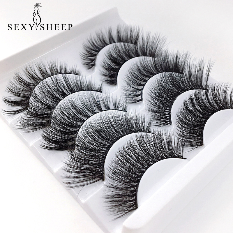 Mixed Model 3D Mink Eyelashes Long Lasting Mink Lashes Natural False Eyelashes 100% Handmade Fake Eyelashes Beeauty Makeup