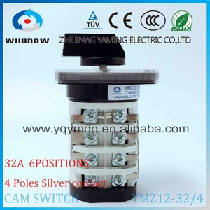 Image 2 - Rotary switch YMZ12 32/4 electrical Combination Changeover cam switch 32A 4 pole 0 6 position sliver contacts high voltage