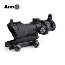 On sale Aim-O hunting Reddot ACOG 4×32 Optical Rifle Telescope Red / Green Reticle With Mount 1 set AO5318