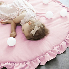 Children Baby Game Mat Lace Play Crawl Round Mat Cart Air-conditioned Rug Tent Bed Valance Decoration Baby Activitie Supplies