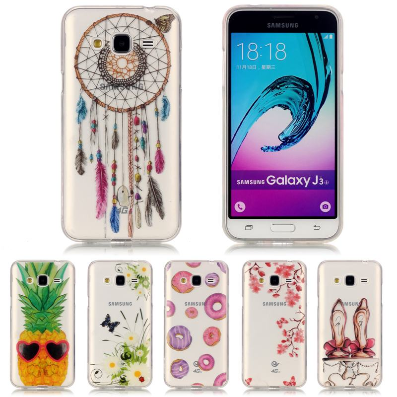 buy for coque samsung galaxy j3 2016 case silicone transparent clear thin slim. Black Bedroom Furniture Sets. Home Design Ideas